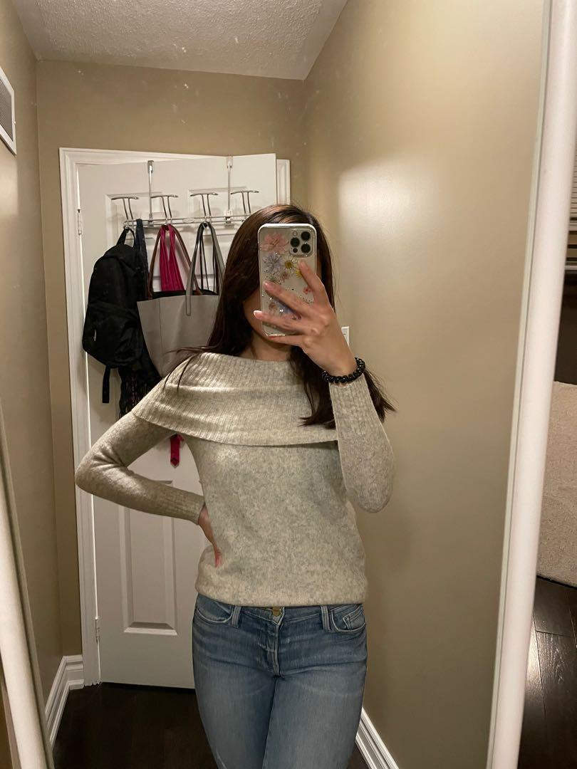 Babaton off-the-shoulder knit sweater, XXS