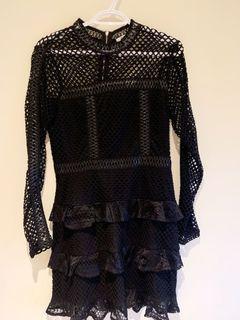 Black see through Mini dress