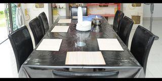 Dinning table 8 person sitting