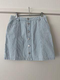 Forever new striped denim skirt