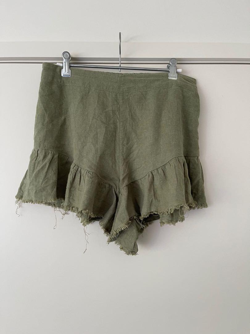 Glassons linen ruffle shorts