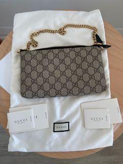 Gucci GG Supreme Canvas Wrist Wallet