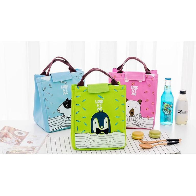 Lunch bag motif Cartoon Look at Me / Tas Bekal Cooler Bag