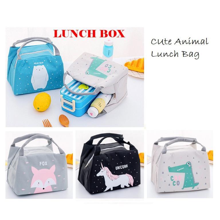 Lunch box Cute Animal Cooler bag / Tas Bekal Makanan / Cooler Bag