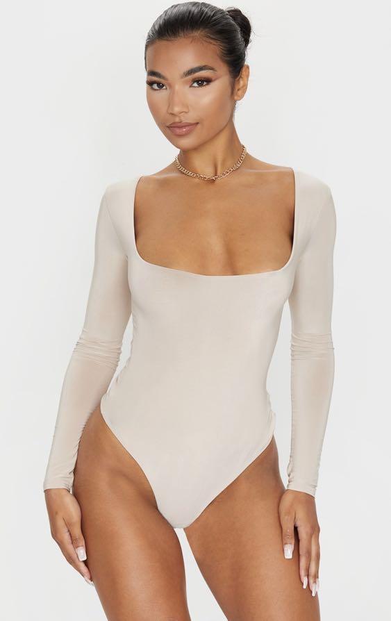 Nude Square Neck Bodysuit