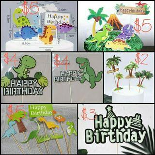 Party Cake Topper: Dinosaur cake topper  for Party Decoration