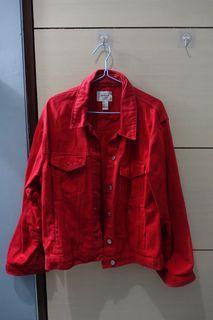 Red Jacket Jeans / Jaket Jeans Merah