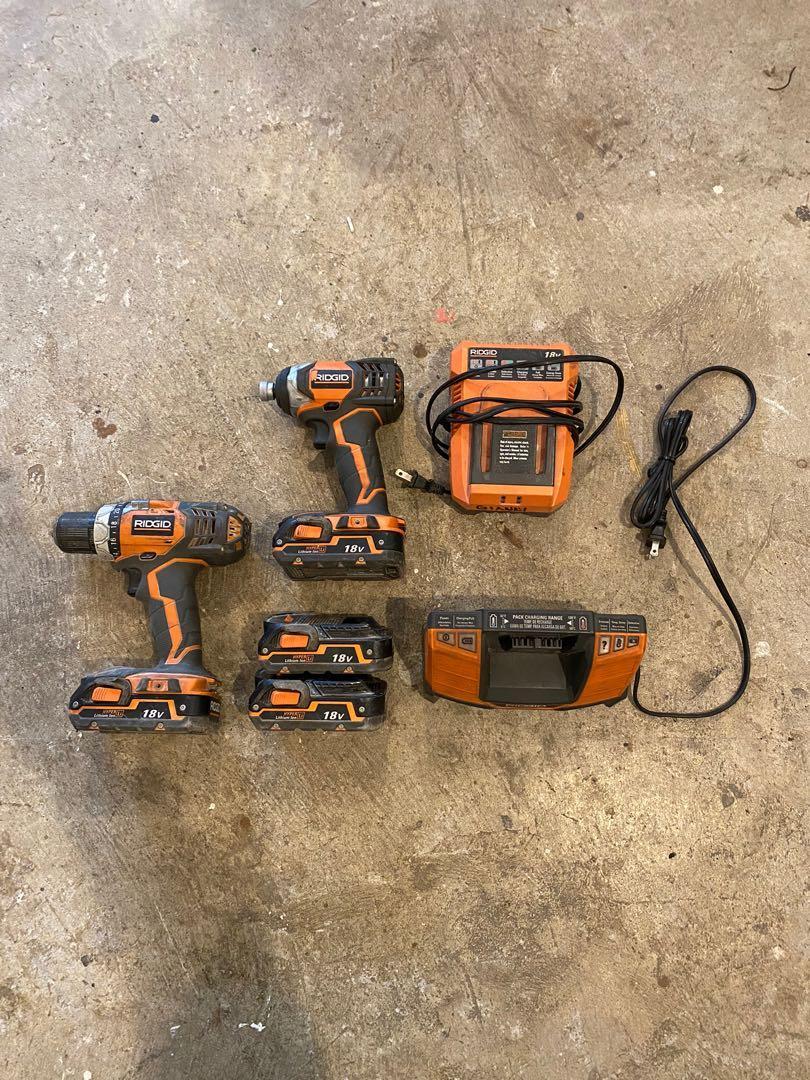 Rigid drill & impact set + radio
