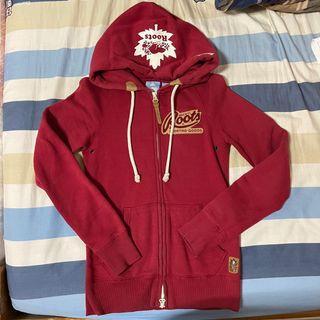 Roots 紅色內刷毛外套size:XS