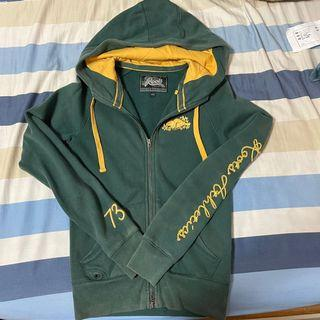 Roots 軍綠色內刷毛外套size:XS