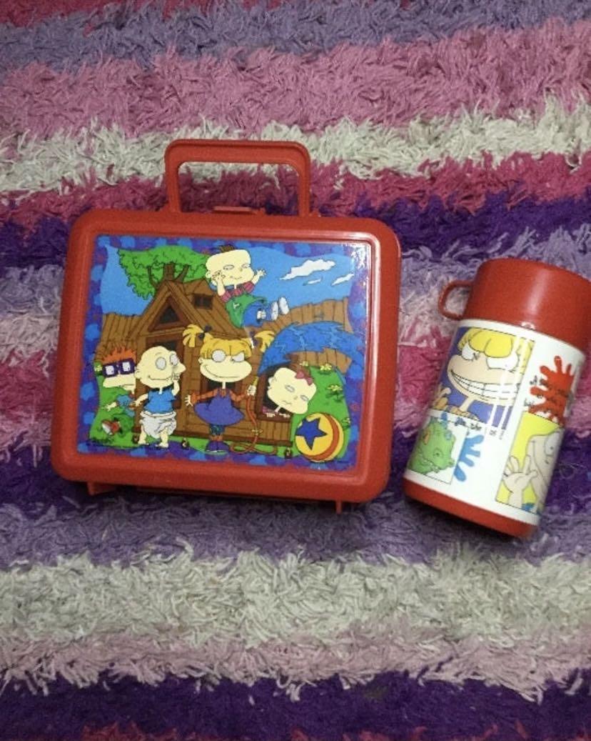 Rugrats vintage lunchbox set