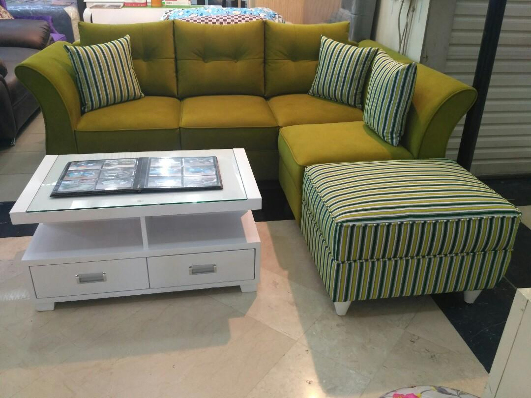 Sale Sofa L Putus Minimalis +Meja