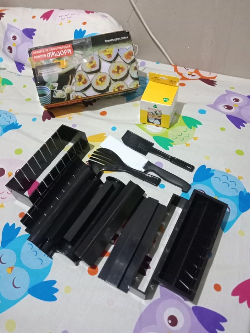 Sushi maker 10 set (cetakan sushi praktis) + free cetakan onigiri