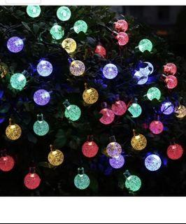 Warm White 5.5 feet 20 LED String Fairy Light wClear Balls /& Beads Battery Powered Decorative Indoor Outdoor