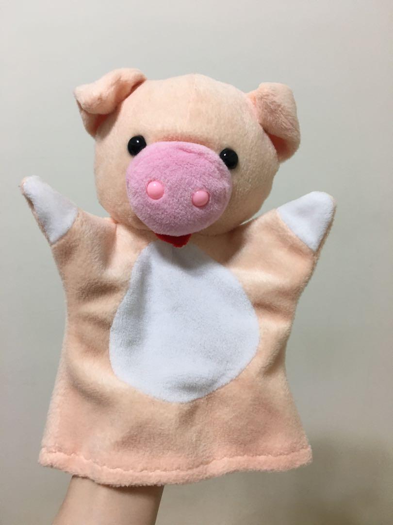 小豬手偶 布偶 玩偶 幼教 幼兒