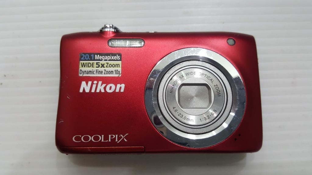 鏡頭故障 零件機 不附電池 nikon coolpix a100數位相機