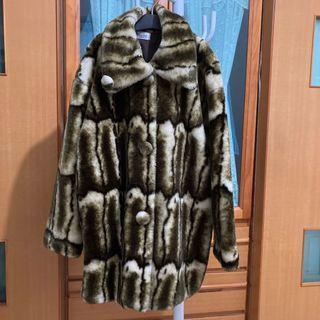 全新 貴婦款仿貂毛大衣 XL