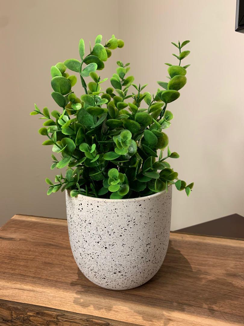 Beautiful Artificial Plant with Stoneware Pot