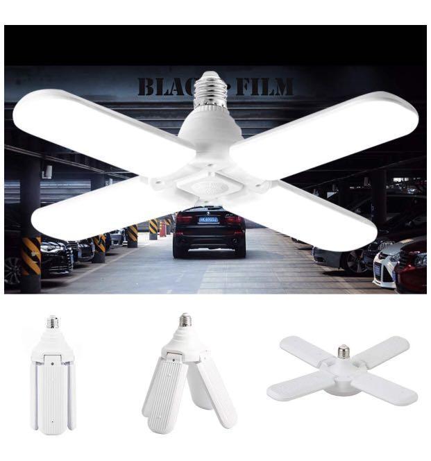Brand new LED Garage Light Folding 60W Ceiling Light LED Foldable 4 Fan