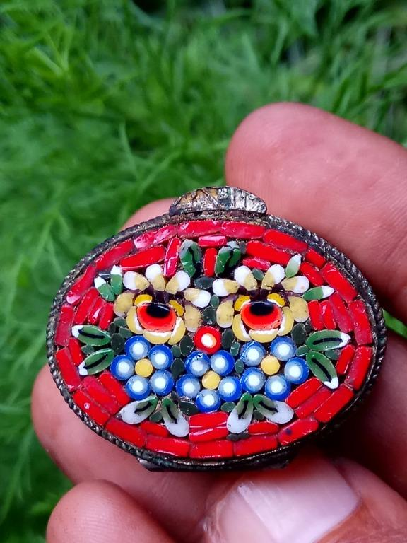 Cepuk mini, motif owl