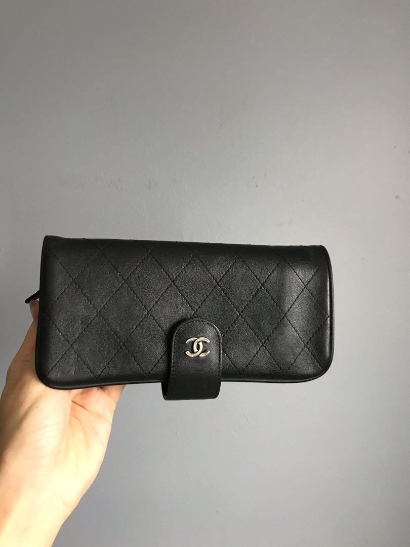 Chanel Black Quilted wallet