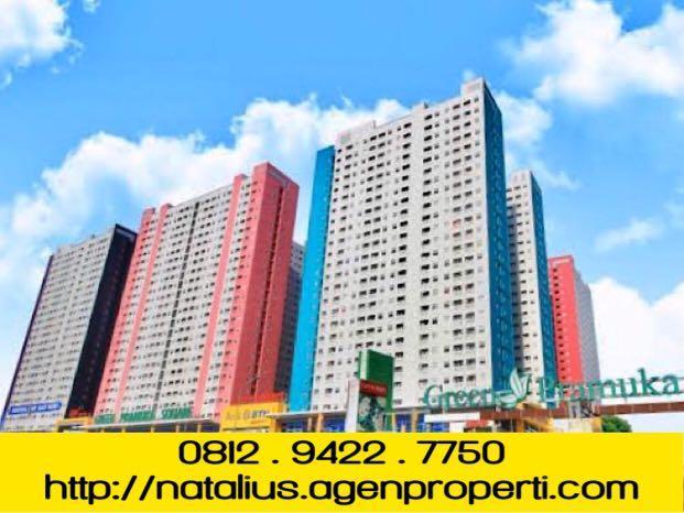 Dijual Apartemen Green Pramuka 2 BR Semi Furnish Unit Siap Huni