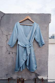 #Salefeb Dress Kimono V Neck Formal Kondangan *FREE ONGKIR