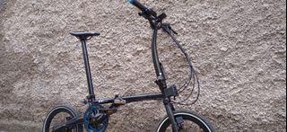 "Sepeda Lipat Evergreen maximus 16"" upgrade rasa MTB . 2x9 speed"