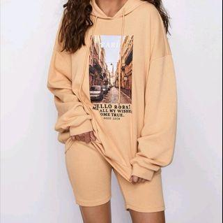 Hoodie and Biker Shorts Set by Shien