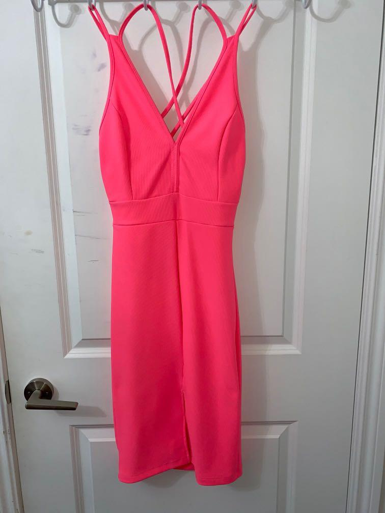 Mendocino M Highlighter Pink Dress