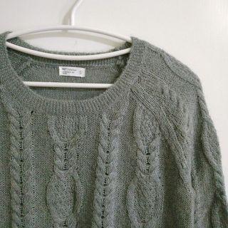 NET 麻花羊毛毛衣 #2021地球日
