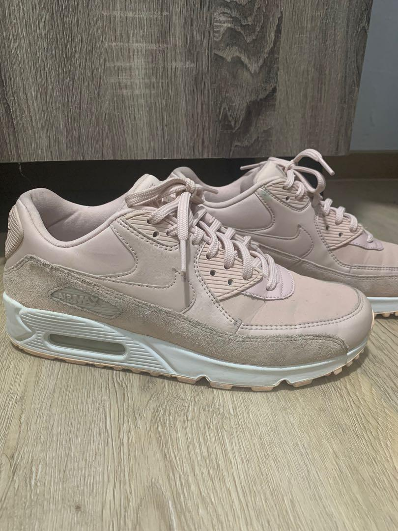 Nike Air Max 90 (pink with glitter), Women's Fashion, Shoes ...