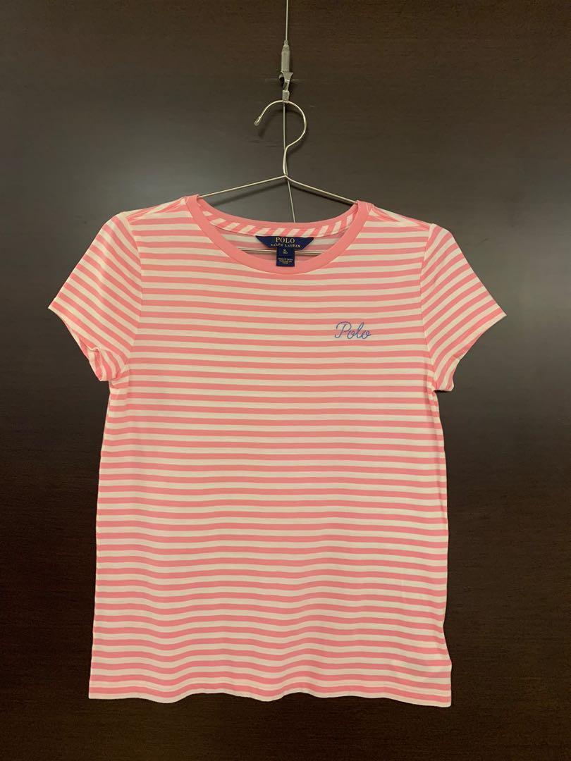 《Polo》童裝/兒童/上衣/條文/粉紅色🧒✨