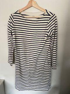 Uniqlo Stripe midi dress