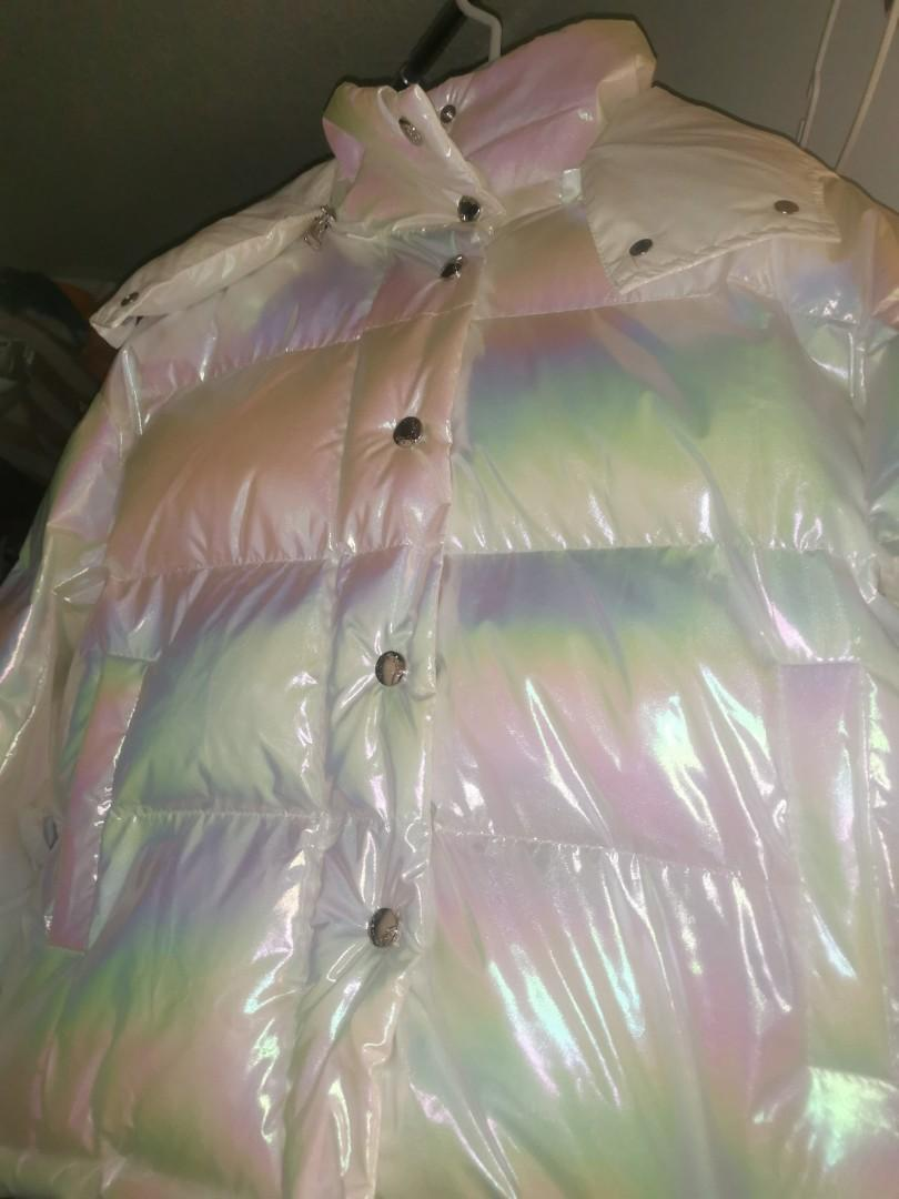 White pearl winter Jacket