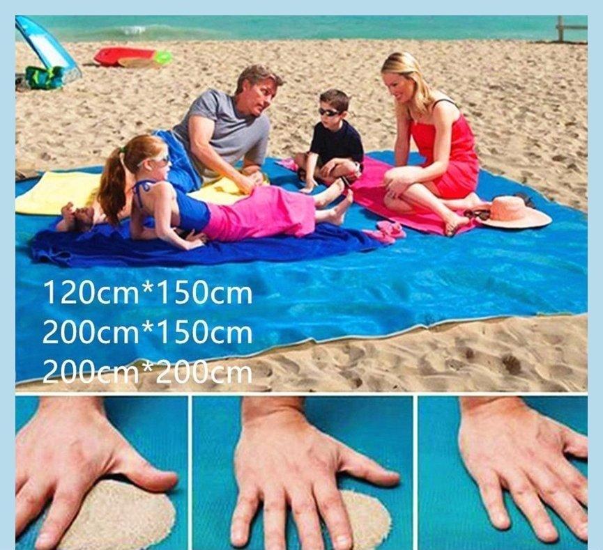 200 * 200cm一代漏沙海灘墊/藍色