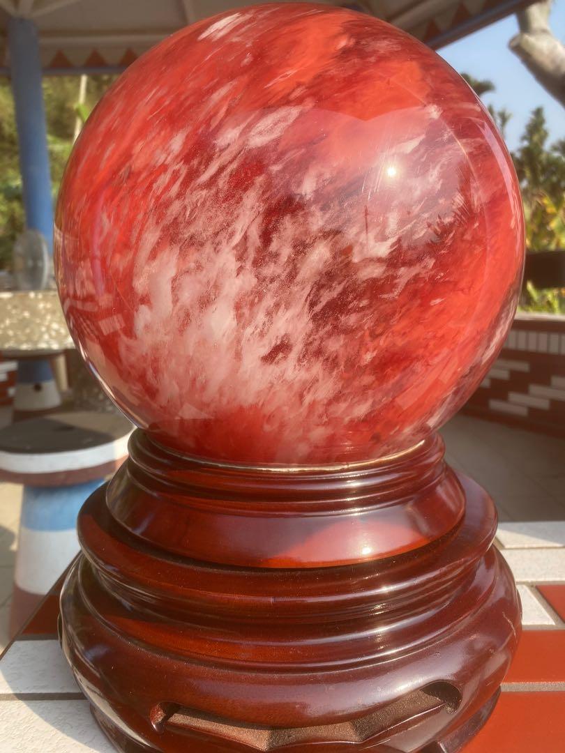 紅兔毛水晶球