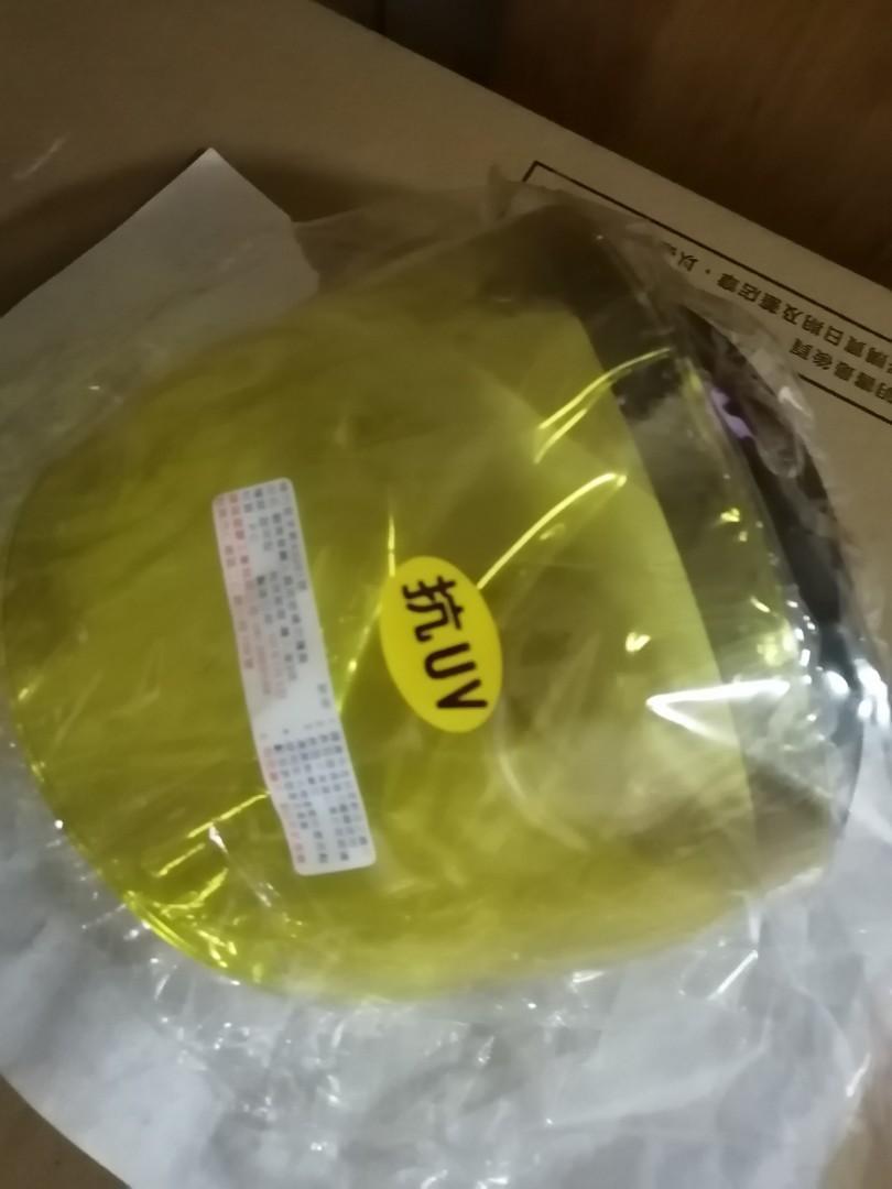 三扣式安全帽夜視鏡片黃色