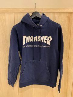 美牌 THRASHER 男帽T(S號) 藍色 滑板 街頭