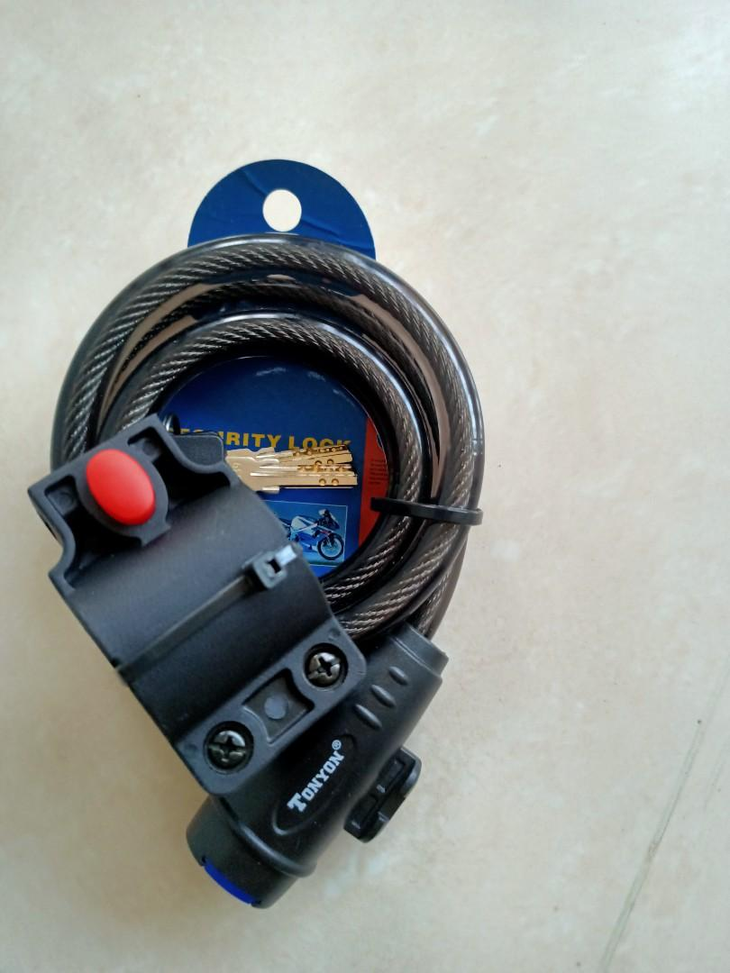 Bicycle LOCK 1.2 m x Ø 10 Mm Motorcycle Lock Spiral Lock