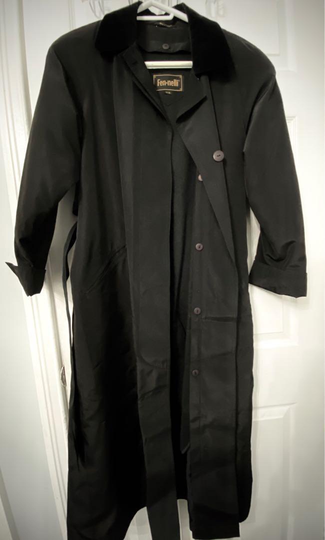 Black spring trench coat