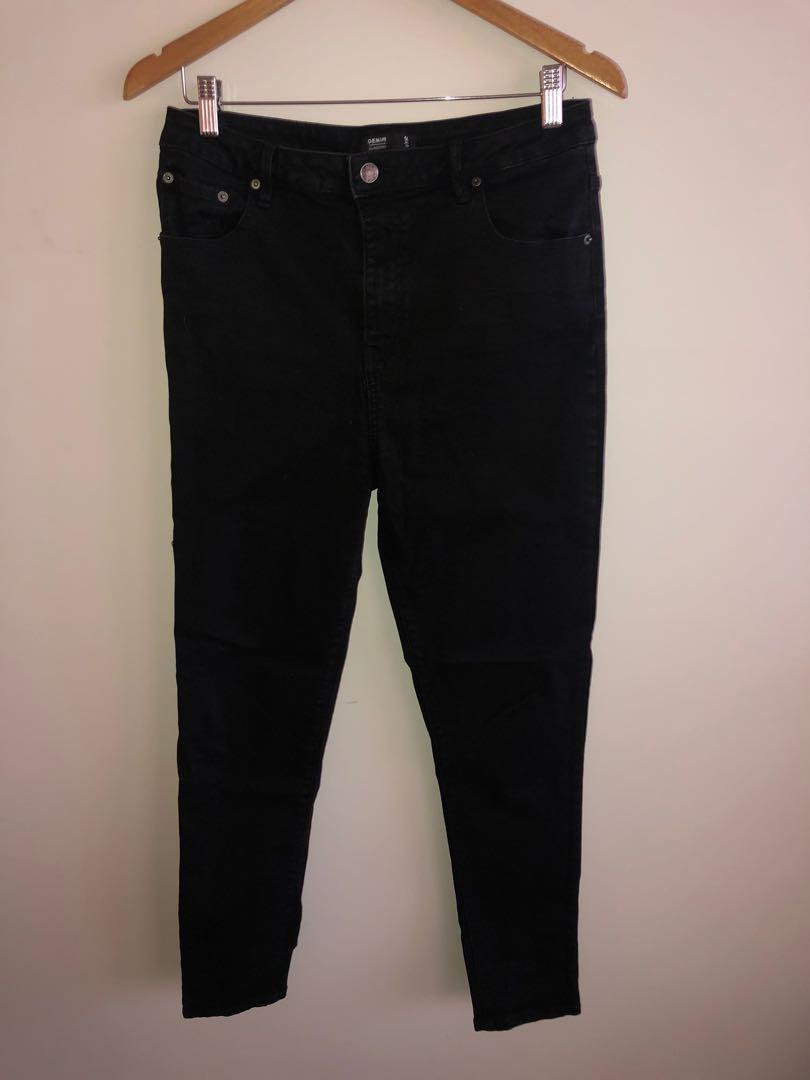 Black Super High Waisted Jeans 14