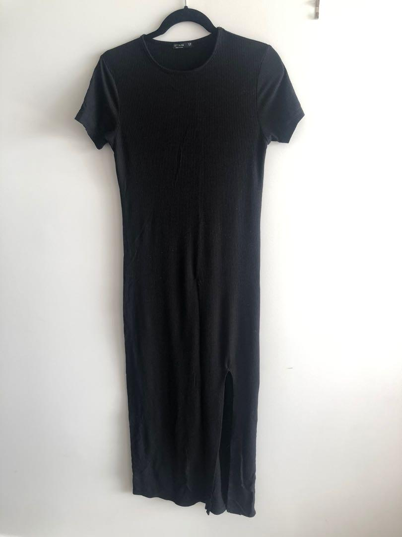 Black T-Shirt Maxi Dress