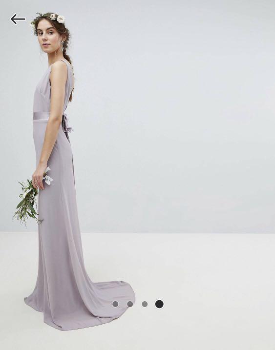 BNWT * ASOS Sateen Bow-tie Dress
