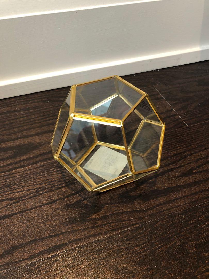 """BNWT * Terrarium Pentagon Cube 11"""""""