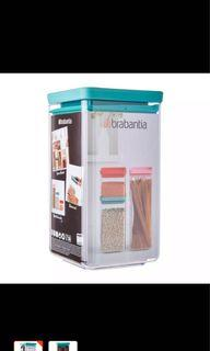 Brabantia Stackable Square Canister 1.6L (Color - Mint) ✨Fast Deal 2 for $20)✨