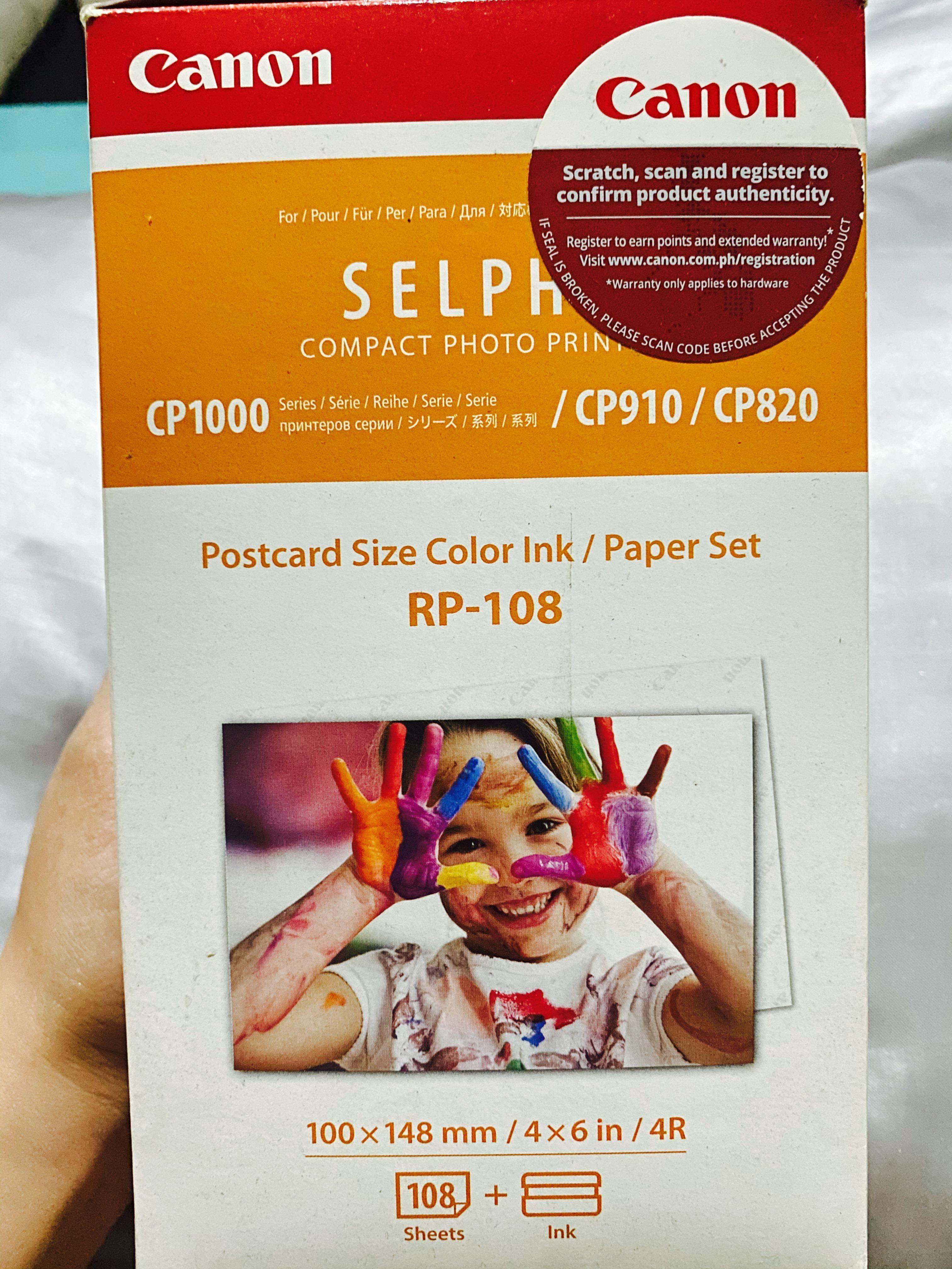 Canon Postcard Size Color Ink /Paper Set RP-108