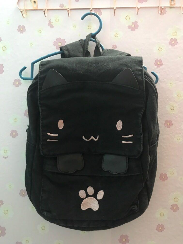 cat bagpack black