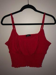Dotti Red Singlet Size XL Very Flattering Shape