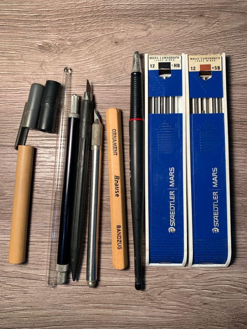 DRAPRS筆刀三支+漫畫沾水筆+Rotring 工程筆+替換筆芯兩盒